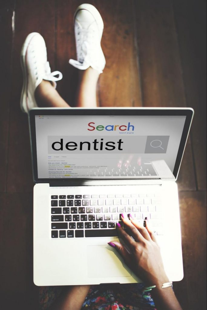 potential client searching for dentist